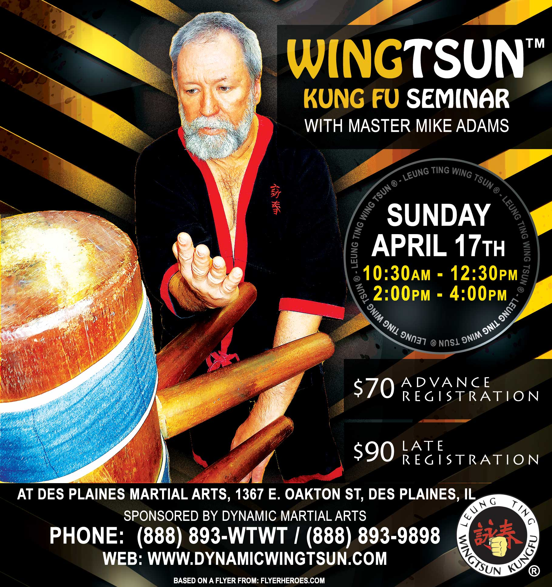 Flyer Graphic: Upcoming WingTsun Seminar April 2016